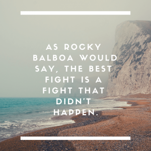 As Rocky Balboa would say, the best fight is a fight that didn't happen.