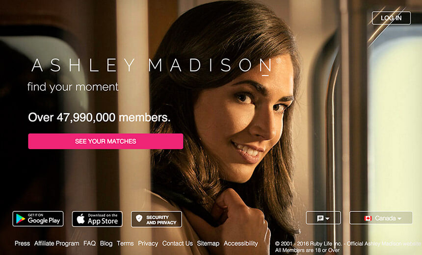 Ashley Madison banner